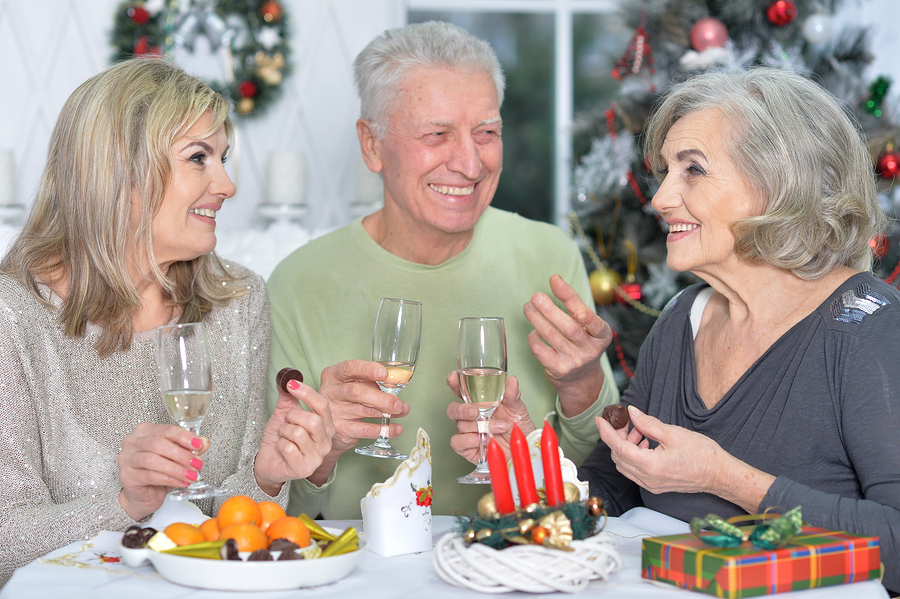 Seniors with a restricted diet eating on the holidays